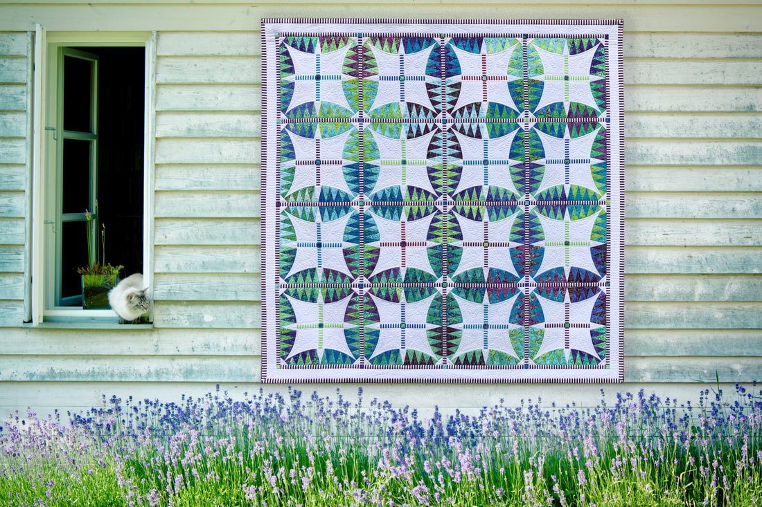 Lavender Fields fabric kit pattern by Jacqueline de Jonge for Be Colourful BC1903