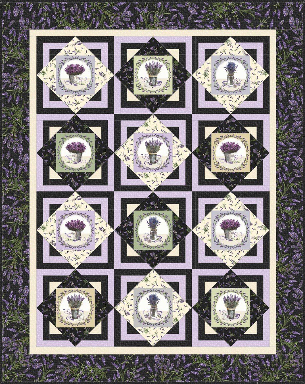 Lavender Sachet Quilt Kit by Maywood Studio KIT-MASLAVS
