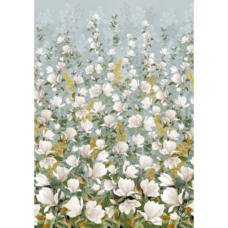 Magnolia Border Panel by Michael Miller Fabrics CX9517-MIST-D