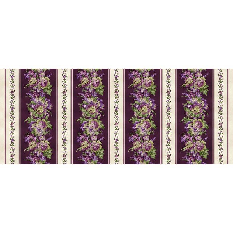 Aubergine, Elegant Stripe by Debbie Beaves for Maywood Studio : MAS9150-V