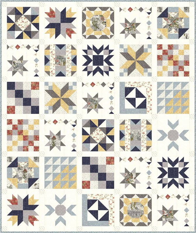 Memoirs fabric quilt kit by 3 Sisters for Moda Fabrics KIT44210