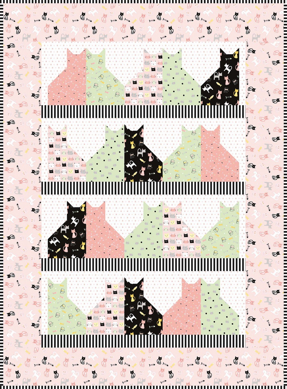 Meow and Forever fabric kit by Riley Blake Fabrics KT0092