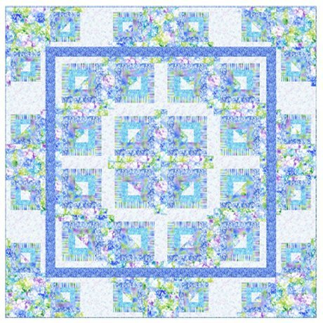 Mimosa Cabin quilt kit by QT Fabrics KIT3955B