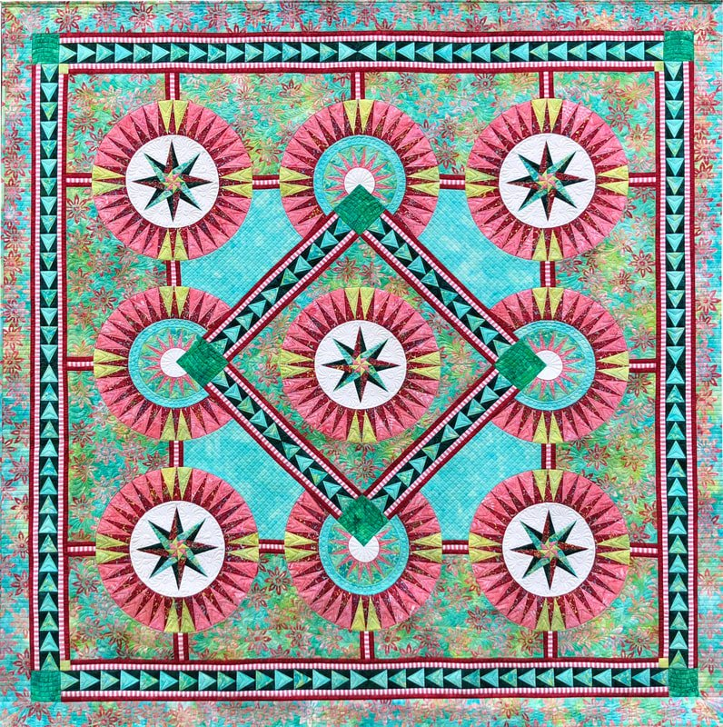 Miss Rosie foundation paper piecing pattern by Jacqueline de Jonge by BeColourful  BC1804
