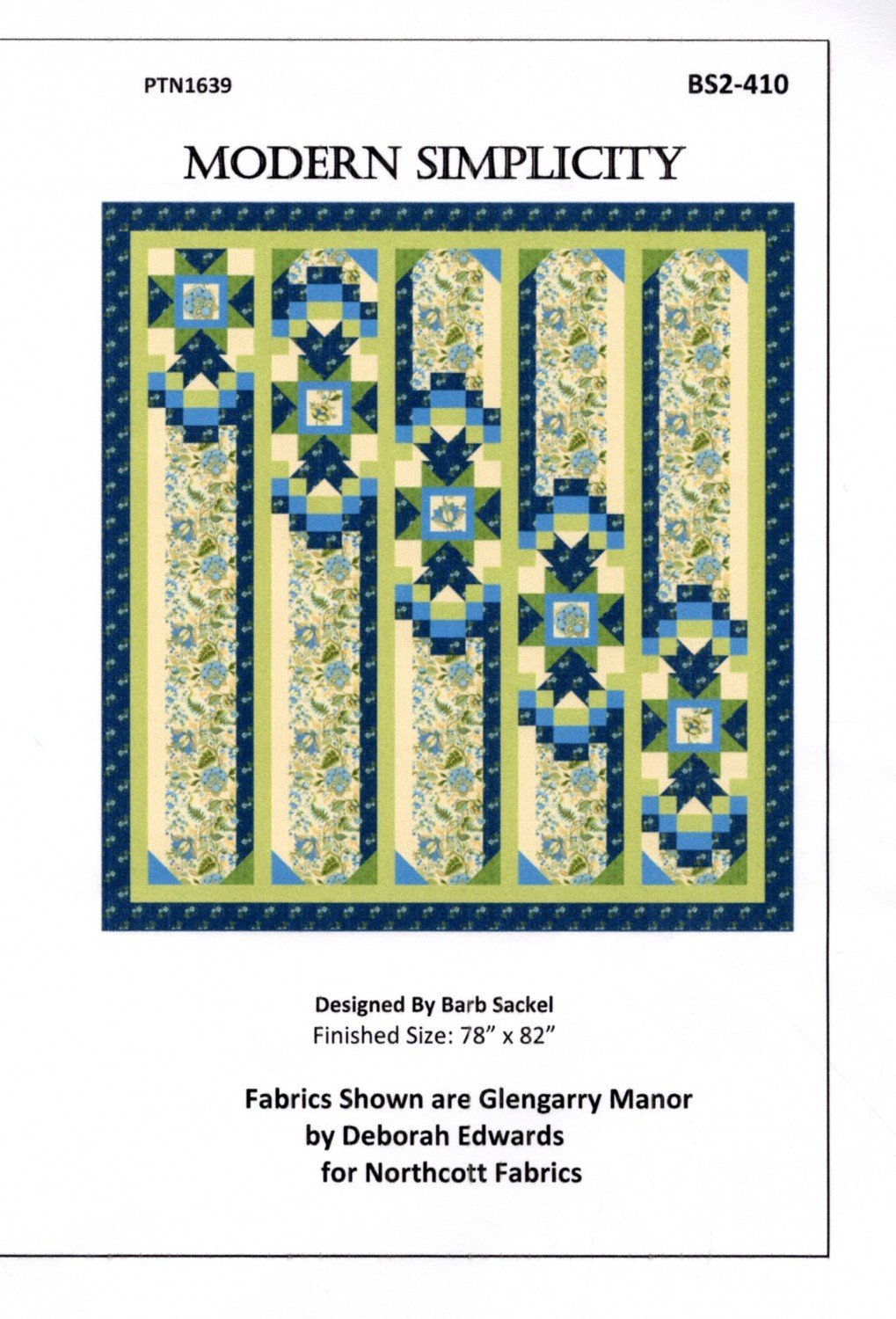 Modern Simplicity, Quilting Kit, Pattern by Barb Sackel