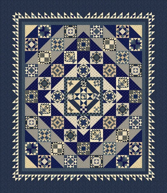 Mrs. Miller's Apprentice Block of the Month by Pam Buda and Marcus Fabrics