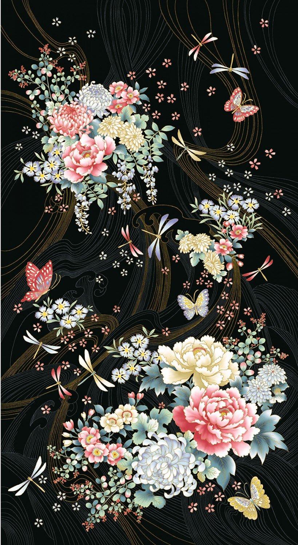 Multi Niwa Floral Panel by P&B Textiles NIWA4384-PA