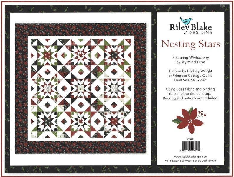 Nesting Star quilt kit by Riley Blake Designs KTO161