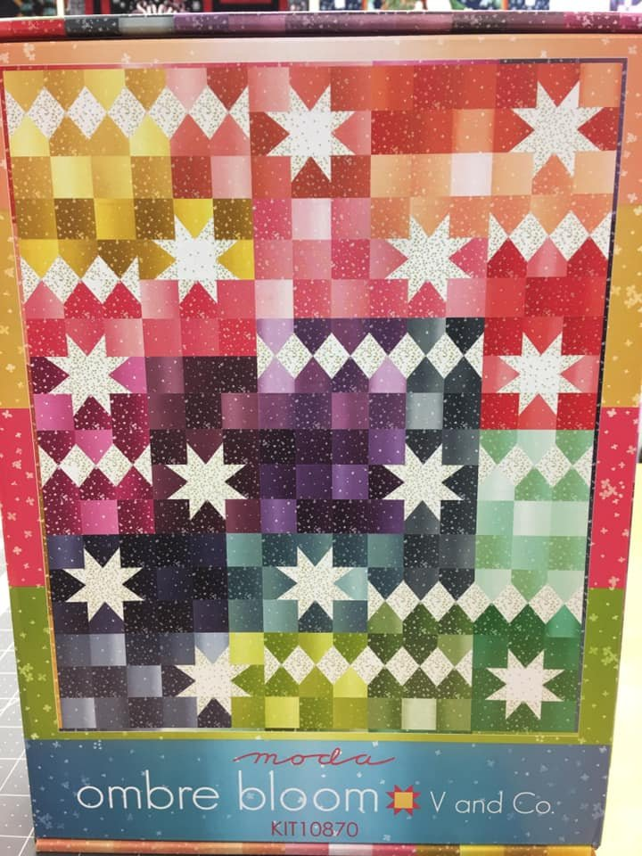 Ombre Bloom quilt kit by V and Co. for Moda Fabrics KIT10870