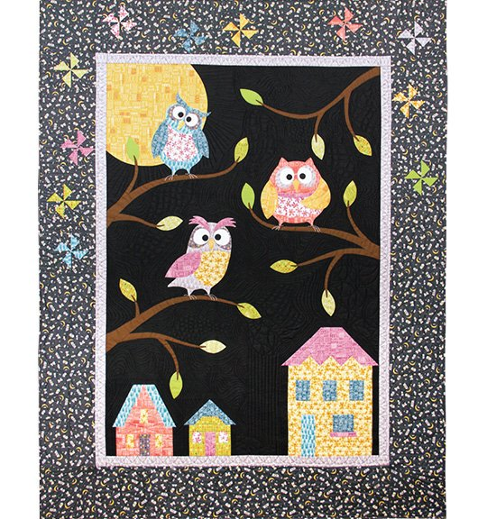 Owlbert and Friends fabric quilt kit by Terri Degenkolb for Windham Fabrics 43229QK