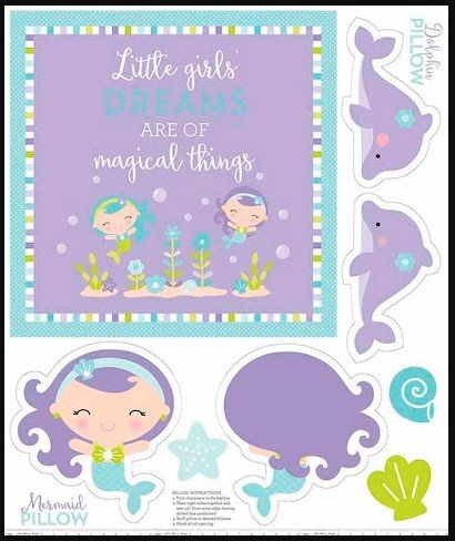 Under the Sea, Purple Pillow Panel by Riley Blake Designs : P5967