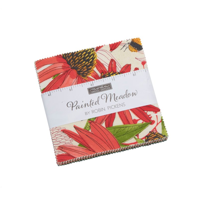 Painted Meadow Charm Pack by Robin Pickens for Moda Fabrics 48660PP
