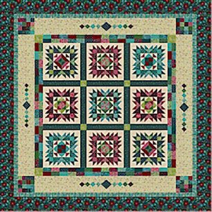Painters Garden Block of the Month by Marcus Brothers and Nancy Rink