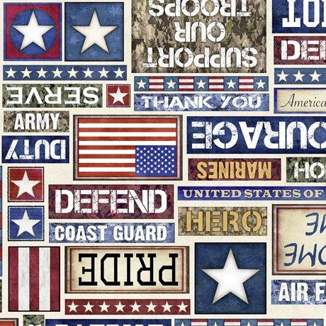All American fabric by QT Fabrics 1649-27617-E