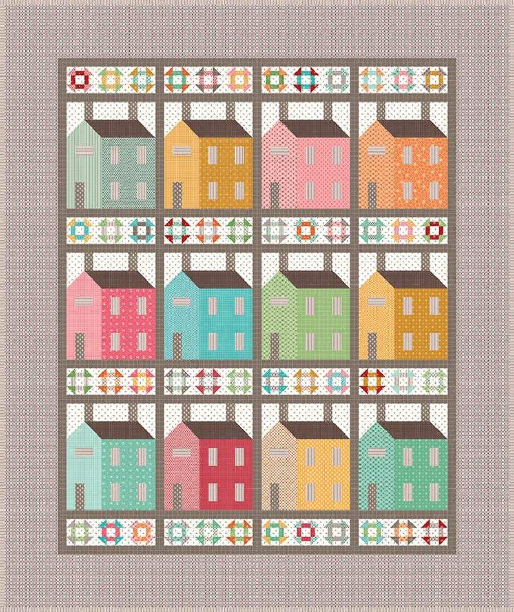 Prim Village Boxed Quilt Kit by Lori Holt for Riley Blake Fabrics KTB-16558