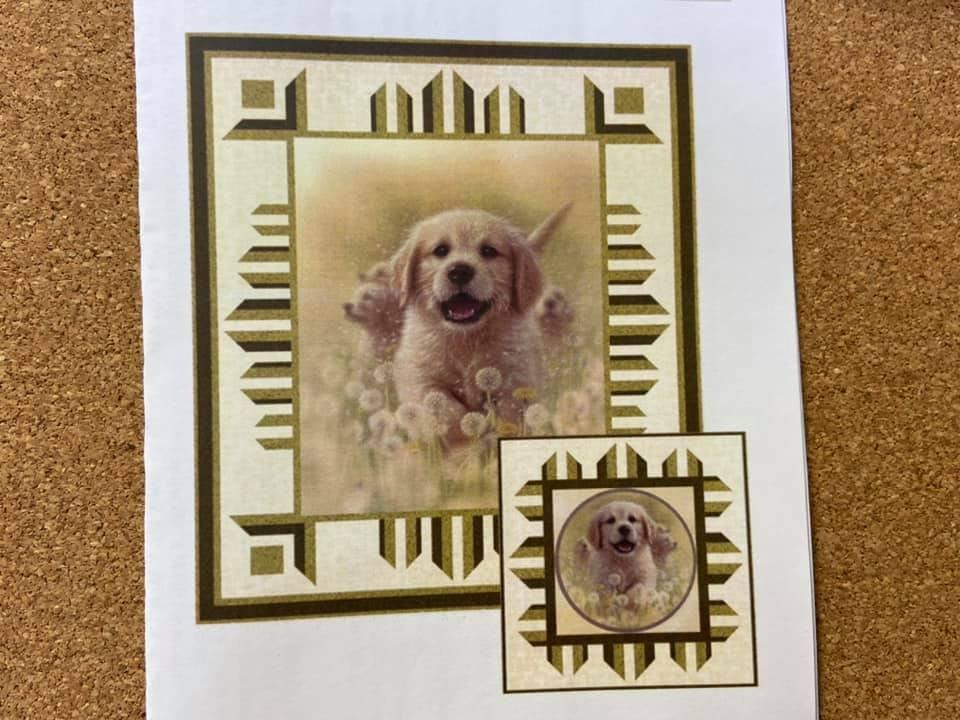 Artworks XV Puppy Love fabric kit from QT Fabrics 27626 A