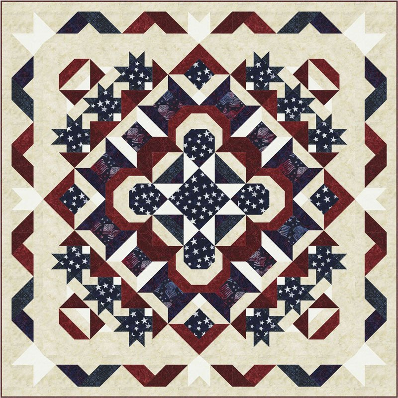 Stellar Starburst fabric kit by Quilt Moments and Timeless Treasures BOM QM152