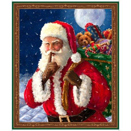 Santa's Night Out, Santa Panel by QT Fabrics 1649-28394-X