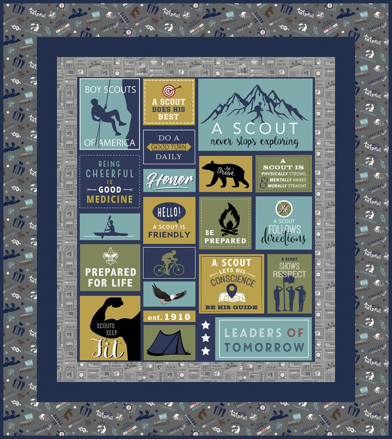 A Scout Is fabric kit by Riley Blake Fabrics KT0141