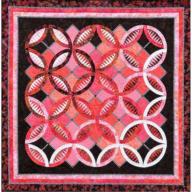 Serendipity fabric quilt kit by Jacqueline de Jonge and BeColourful for Anthology Fabrics BC1709