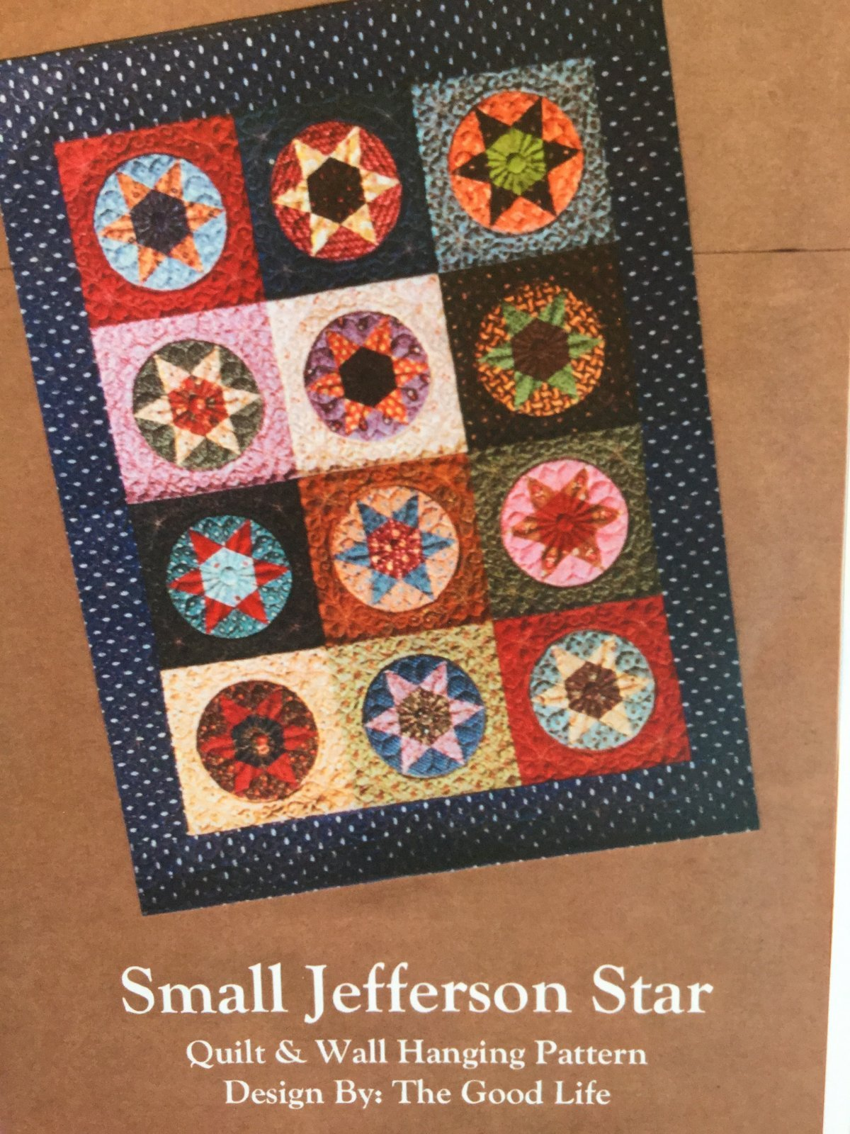Small Jefferson Star, English Paper Piecing Pattern by The Good Life : GLP-47