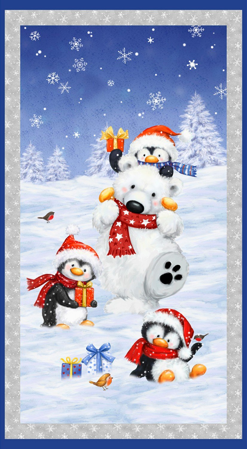 Snow What Fun Panel by Wilmington Prints 45151-143