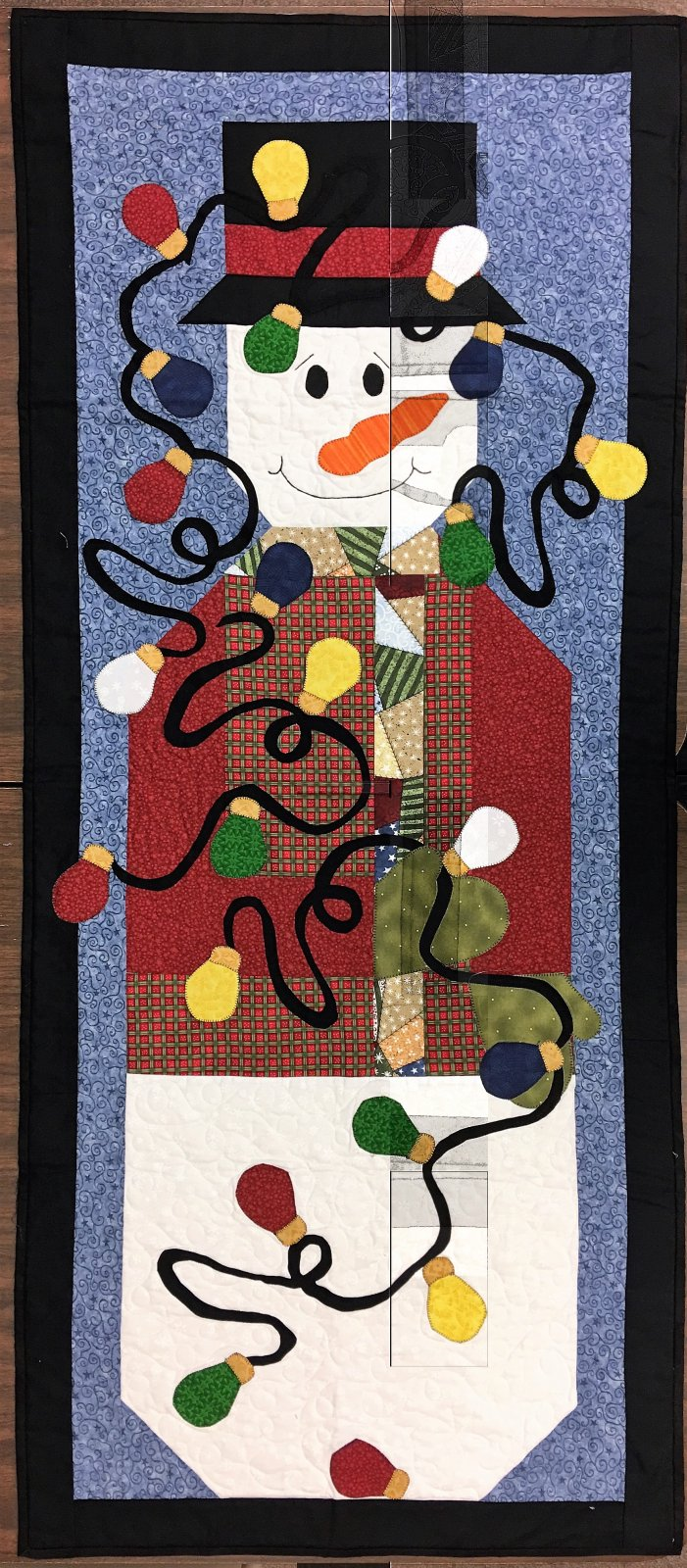 Snowman - Finished Wall Hanging Quilt