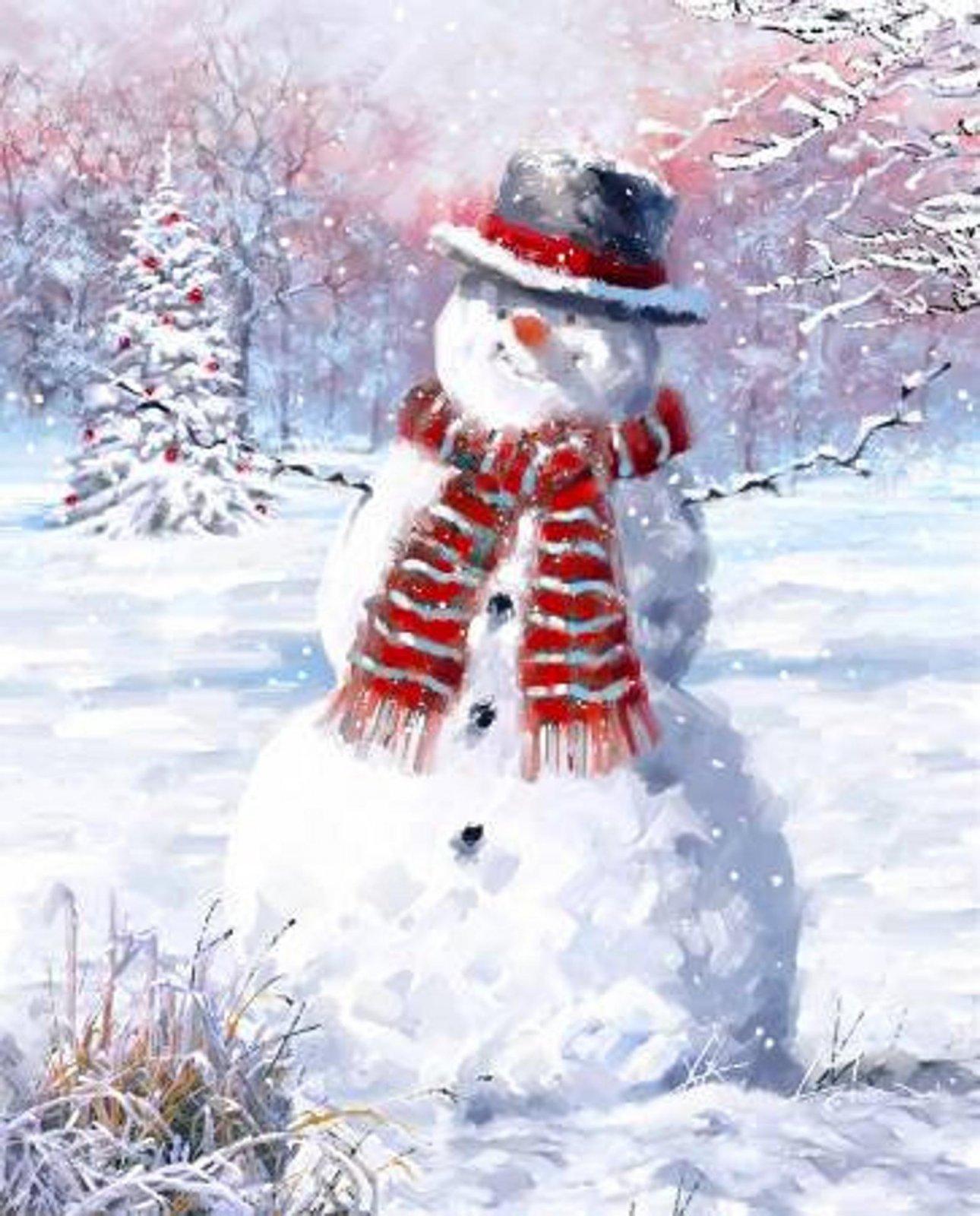 Snowman Panel by David Textiles AL-3826-9C 1 Multi