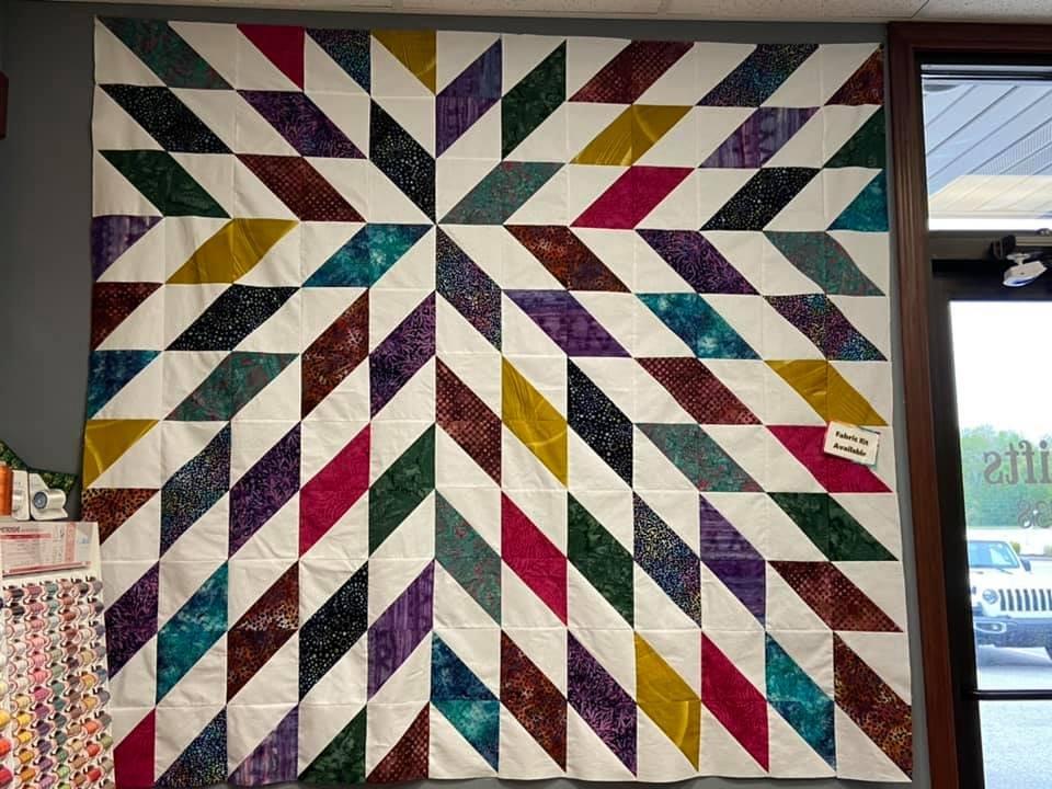Solar Flare fabric quilt kit