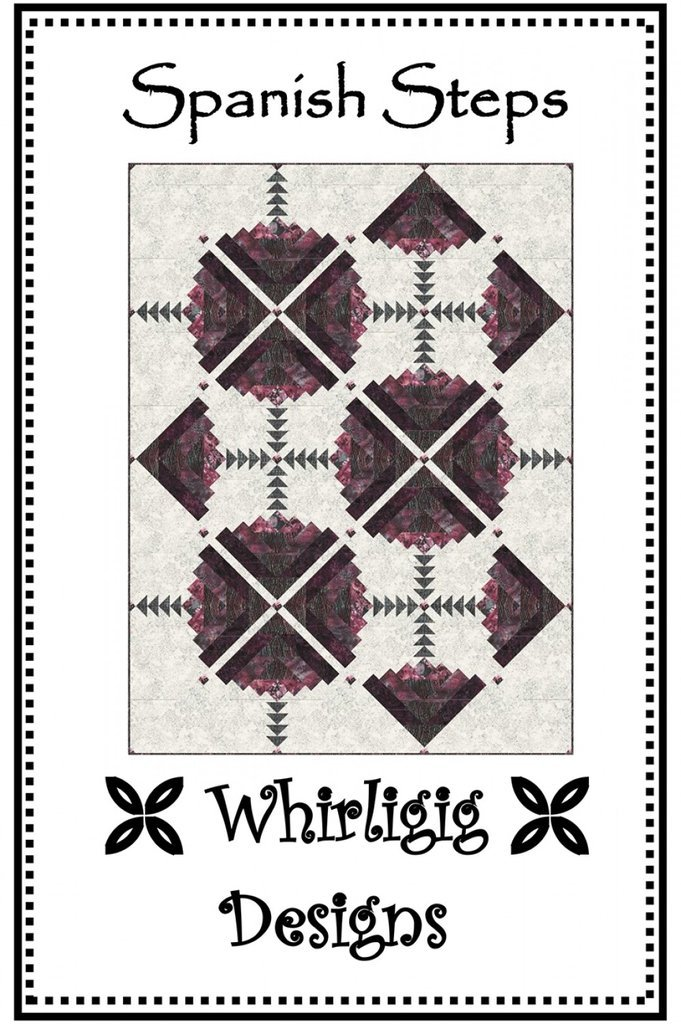 Spanish Steps, Quilting Pattern by Whirligig Designs : SS-WD