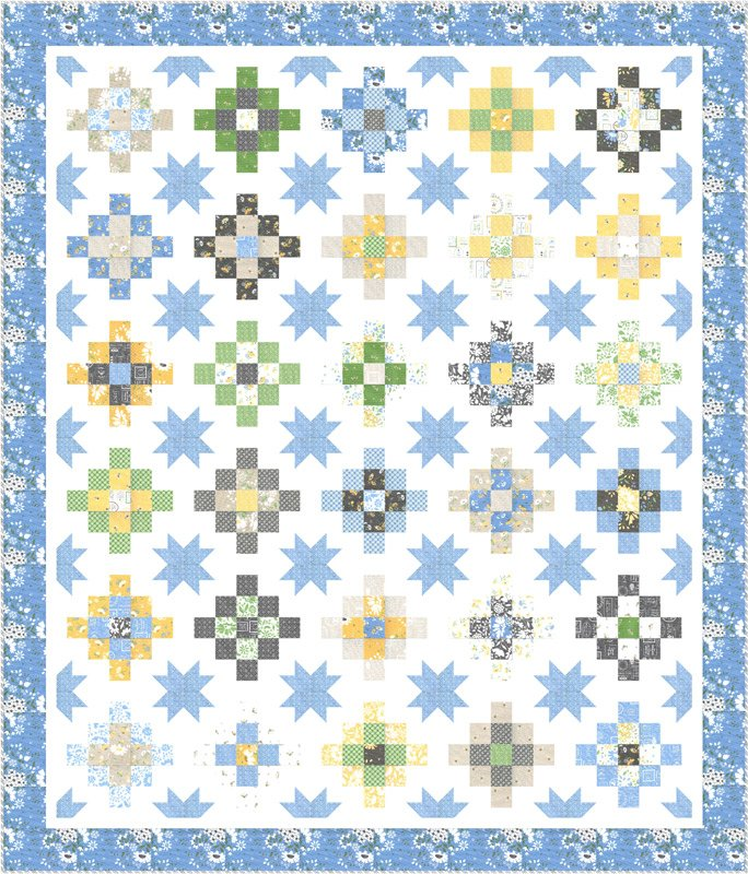 Spring Brook quilt kit by Corey Yoder for Moda Fabrics KIT29110