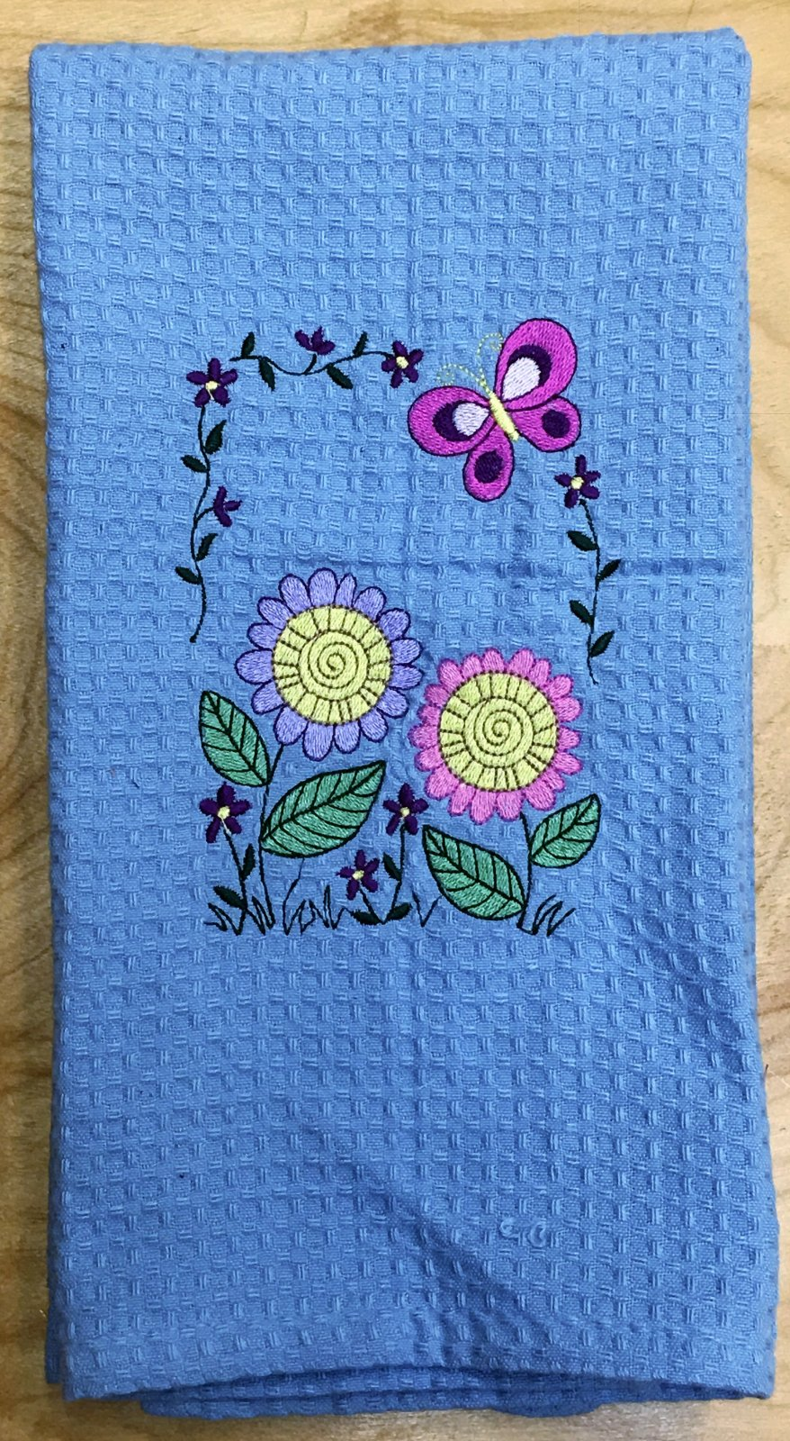 Spring Time - Embroidered Hand Towel