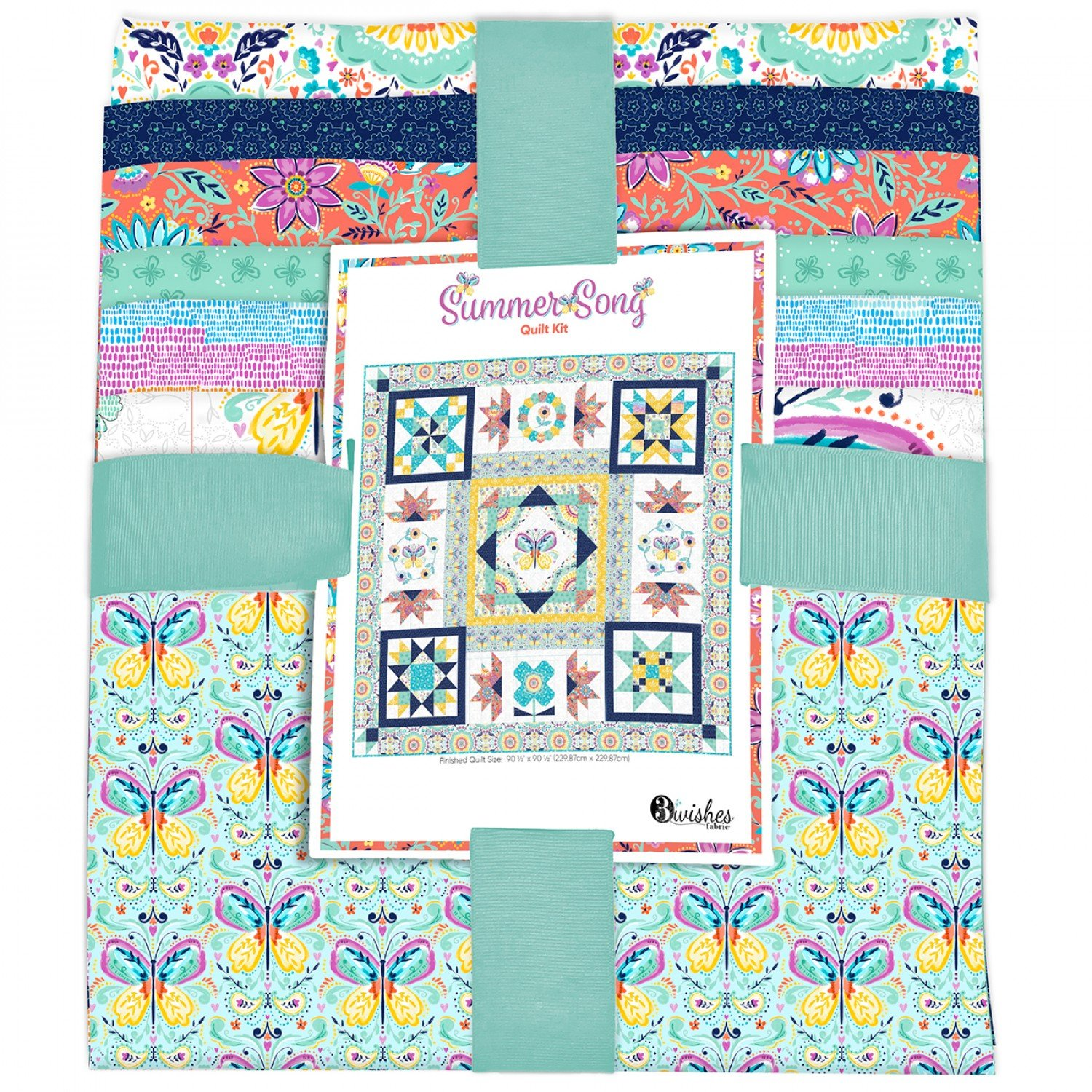 Summer Song quilt kit by 3 Wishes Fabrics 3WS21-QLTKIT