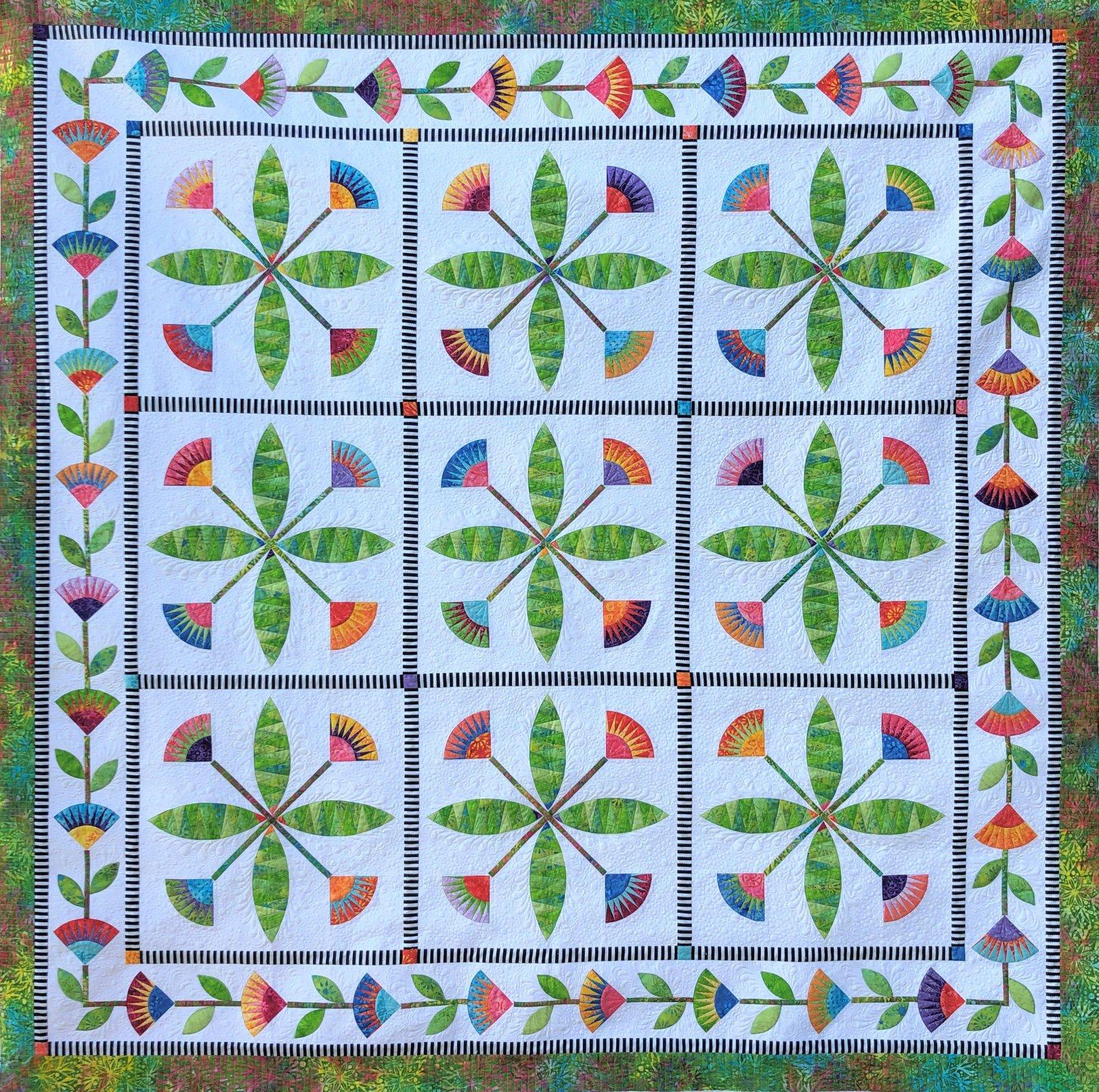 Summertime fabric quilt kit by Jacqueline de Jonge, BeColourful for Anthology Fabrics 52581QK