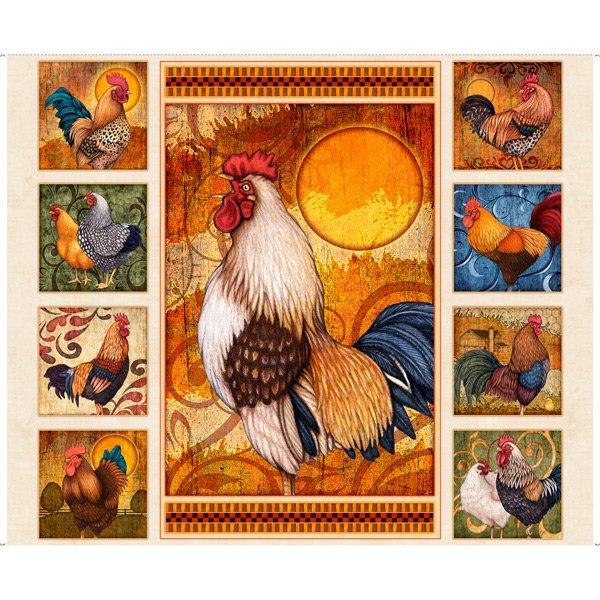 Sunrise Farms panel by QT Fabrics 1649-27415-E