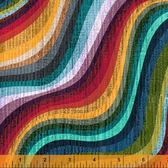 Terrain Wave fabric, Universe, by Whistler Studios for Windham Fabrics 52494D-1 Universe