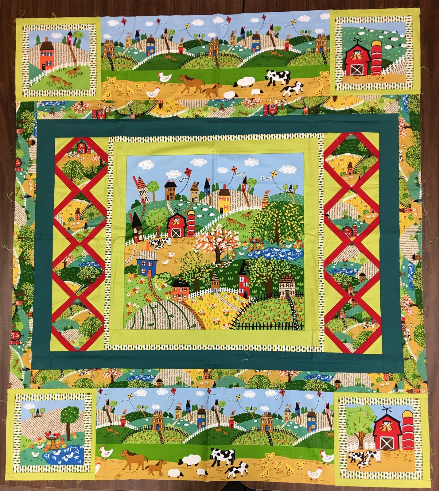 The Farm - Unquilted Pieced Panel Quilt