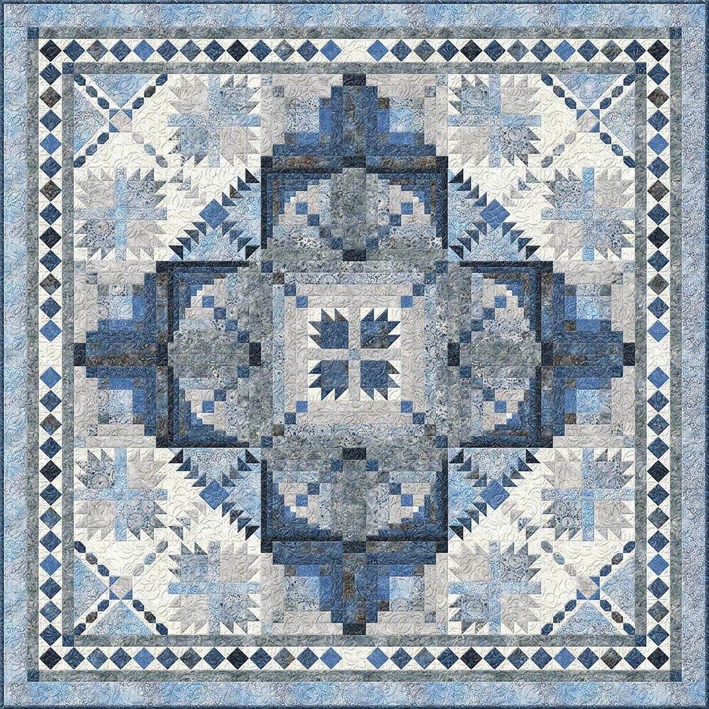 The Road Home Block of the Month or all at once quilt kit by Wilmington Fabrics