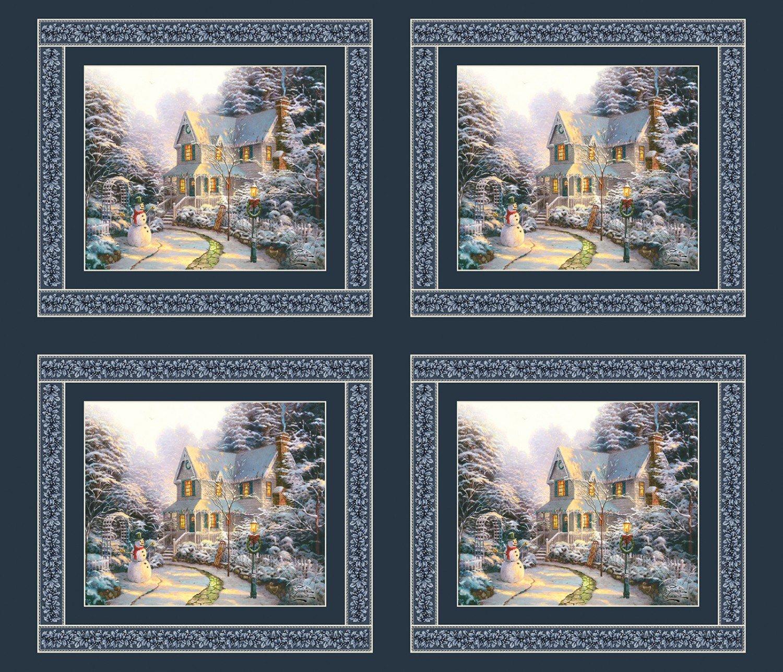 Thomas Kinkade Christmas fabric panel : 5453-99