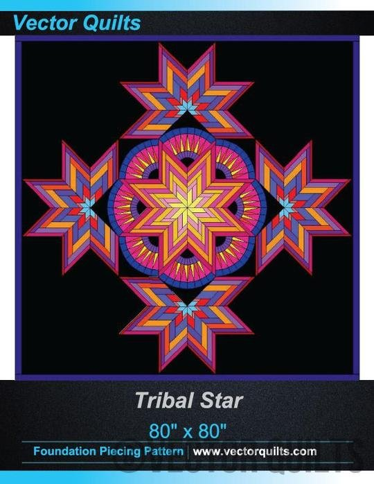 Tribal Star Foundation Paper Piecing pattern