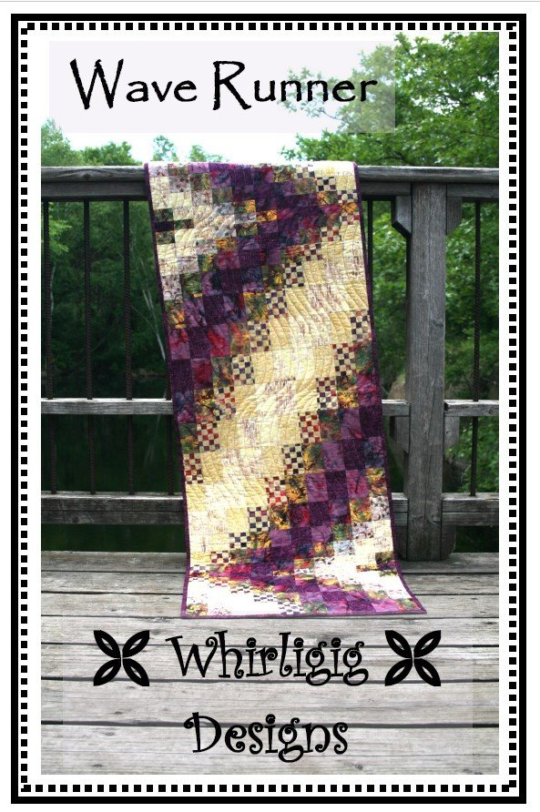 Wave Runner quilt pattern by Chris Hoover for Whirligig Designs WD-WR