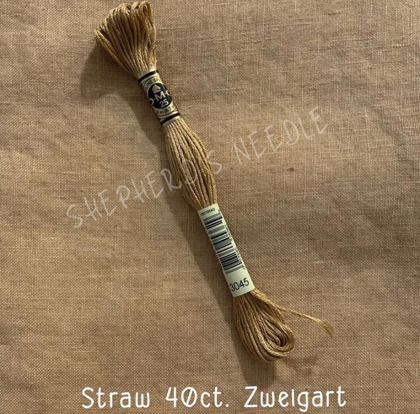WDW 40ct Zweigart Straw Fat Quarter