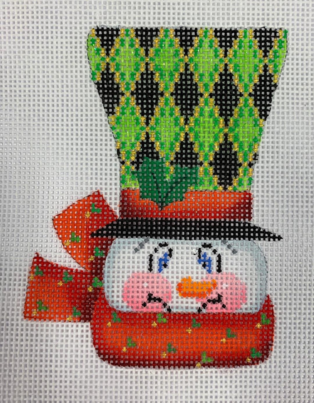 K&B Top Hat Snowman Diamond 18ct Mesh