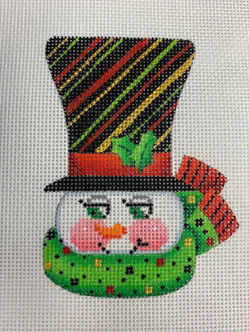 K&B Top Hat Snowman Stripes 18ct Mesh