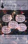 HS Advent Candles Ornament Set