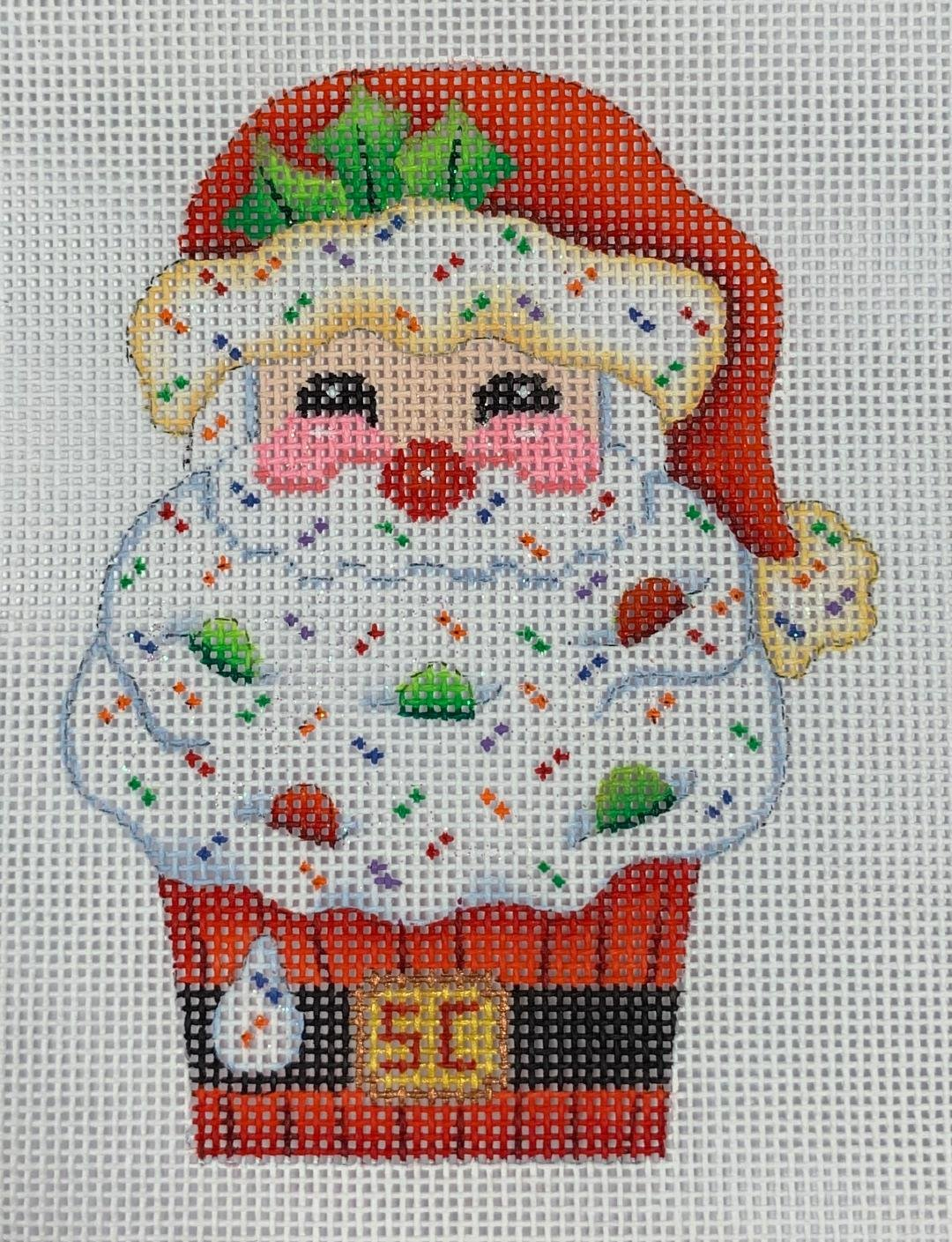 K&B Cupcake- Santa 18ct Mesh