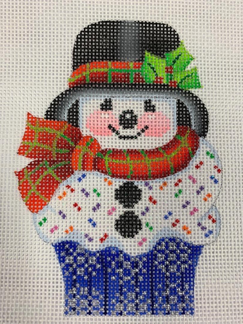 K&B Cupcake- Snowman 18ct Mesh