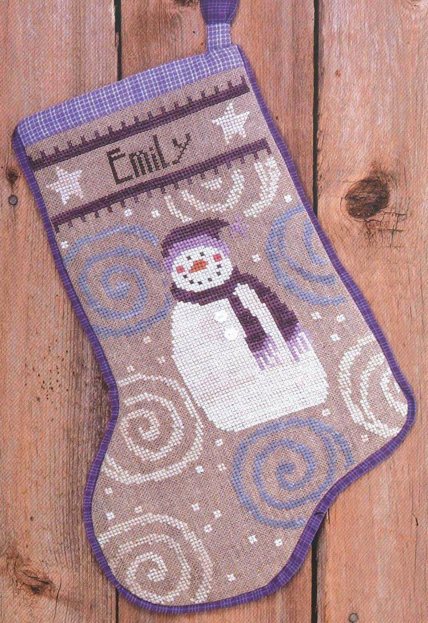BC Snowman Stocking