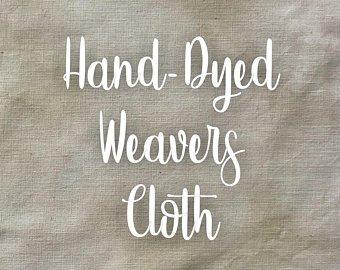 Birch Hand-dyed Weavers Cloth