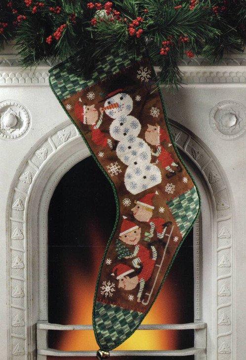 BOAF Snow Day Christmas Stocking